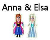 Disney Frozen Inspired Brick Stitch Earring Pattern Disney Frozen Anna and Elsa Sisters Seed Bead Delica Pattern on Etsy, $4.00
