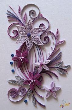 Neli Bertova: Quilling cards-flowers