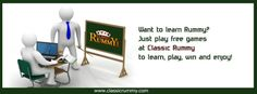 Want to #learn #Rummy? Just #play #free #games at #classicrummy to learn, play #win and #enjoy!  https://www.classicrummy.com/?link_name=CR-12