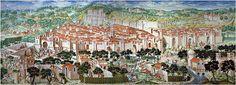 Granada en el fresco de la Batalla de la Higueruela - el Escorial
