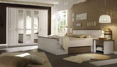 Komplett Schlafzimmer Doppelbett Bett Nakos Kleiderschrank Luca