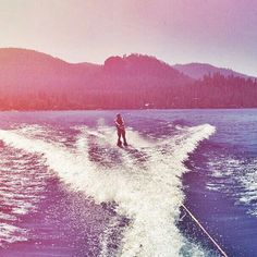 Water skiing, fun to do, hilarious and nerve racking to watch.