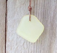 Sunshine Yellow Sea Glass Necklace by WaveofLife on Etsy, $14.00