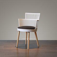 JIANMO Nordic Chair plastic wood personality Creative Leisure Chair dining Chair Comfort Cushion modern chair computer chair - Shop @ ezbuy Malaysia