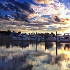Intracoastal reflections of Fort Lauderdale sunset @caroleadkins Instagram photo