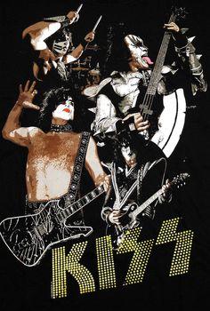 KISS BAND | Kiss Band Photo Danger Rock Band Adult T Shirt Tee | eBay