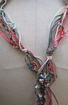 Lovely knotted cord necklace