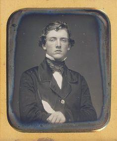 DAVID C. IRWIN. sixth plate daguerreotype circa 1846 (via Dennis A. Waters Fine Daguerreotypes)