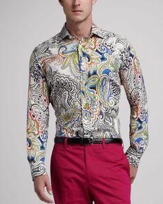 Etro Paisley Sport Shirt in Multicolor for Men (multi colors)