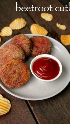 beetroot cutlet recipe, beetroot tikki recipe, beetroot patties with step by step photo/video. healthy party snack for kids with beetroot & other vegetables Pakora Recipes, Cutlets Recipes, Chaat Recipe, Veg Recipes, Spicy Recipes, Cooking Recipes, Catsup, Beetroot Recipes, Beetroot Chutney Recipe