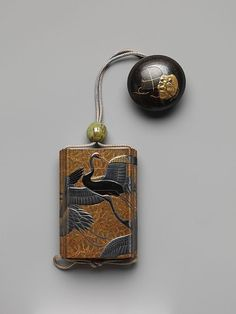 virtual-artifacts:  Netsuke and Inrō with Cranes and Pines.  About 19th century, Japan