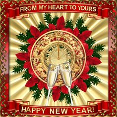 New Year Jan 1st 2017/Happy New Year section.  Wish anyone happy New Year with love! Permalink : http://www.123greetings.com/events/new_year/new_year_wishes/from_my_heart_to_yours_48.html