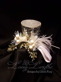 Silver Christmas Top Hat Headband by LaceyLengths on Etsy