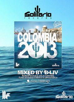 B-Liv / Colombia 2013 /  ◥◣◥◣ Gracias a la alianza exclusiva que Solitario Records tiene de Toolroom Records U.K, presenta COLOMBIA 2013, una selección de los temas más calientes del Triple Compilado IBIZA 2013 de Solitario Records, mezclado por B-LIV,  exclusivo a través de Beatport para Colombia y para México y Latinoamérica por iTunes.◥◣◥◣ https://itunes.apple.com/mx/album/colombia-2013-mixed-by-b-liv/id703292146