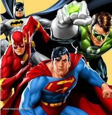 Batman, The Flash, Superman, and Green Lantern