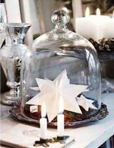 Bell Jar.....what about my large paper cranes in the bell jar instead of stars....