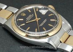 71' ROLEX OYSTER DATEJUST R.1600 Black millor dial 798,000+t 2016.10.28.