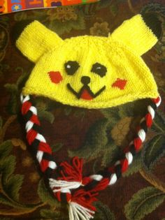 Pikachu hat knitted.  Order at www.facebook.com/remember.purl