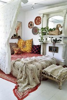 A fancy bohemian bedroom can help you to express your personality. Reach out to a hippie trapped inside you and create a special atmosphere in your bedroom which is not only creative and interesting, but also warm and cozy.