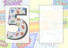 5 Today Comic Book Birthday A5 Insert on Craftsuprint - Add To Basket!