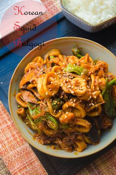 Thumbnail image for Korean Squid Bulgogi Calamari Recipes, Seafood Recipes, Korean Dishes, Korean Food, K Food, Bulgogi, Asian Recipes, Hawaiian Recipes, Recipes From Heaven