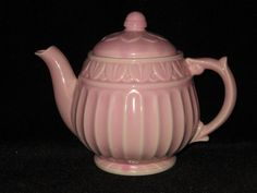 Shawnee Lotus Teapot Tea Pot  Pink by WildCrockophile on Etsy, $50.00