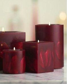 Love these Dark Red Embossed Flower Pillar Candles they look soo beautiful and amazing my favourite love it amazing soo beautiful. Homemade Candles, Diy Candles, Scented Candles, Pillar Candles, Aroma Candles, Shades Of Burgundy, Burgandy Color, Candle In The Wind, Candlemaking