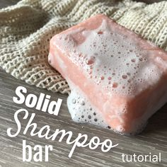 Learn how to make this gentle cleansing shampoo bar, which leaves your hair soft, silky and tangle-free. Suits all hair types, and this tutorial is a great introduction for those wanting to venture into making solid shampoo and conditioner bars.