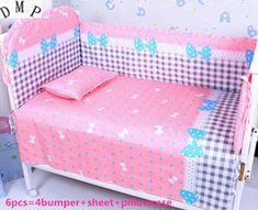 Promotion! 6/7PCS 100% cotton baby bedding set curtain crib bumper baby cot bedding set ,120*60/120*70cm