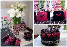 Hoje tivemos a alegria de decorar o chá de lingerie da Joana!   Para ela criamos tags com calçinhas e sutiãs para os mini-cupcakes.  E esp...