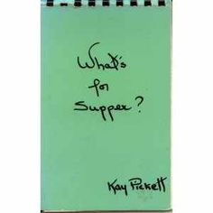 "$ 7.00,What's for Supper?:  What's for Supper? Kay Pickett (Author),  [Plastic Comb]   free shipping.  Vintage cook book ,collectible ,shows medium wear.     Skern Sloan Publishers, Inc; 1967; 1; 16mo 6"" - 7"" tall; Spiral bound,..."