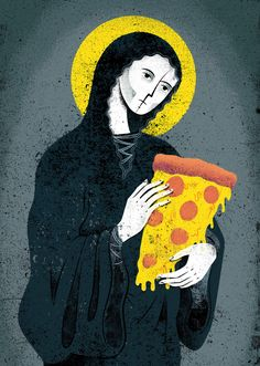 Eric Nyffeler's illustration for Snacks Quarterly Background Cool, Logo Pizzeria, Geeks, Pizza Life, Minions, Pizza Art, Pizza Planet, I Love Pizza, Collage Art