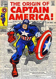 Captain America saves the day! 1st comics out on March 1941 (cover art by Jack Kirby and Syd Shores)