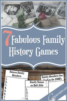 7 Fabulous Family History Games                                                                                                                                                                                 More