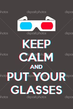 Keep calm and put your glasses — Stock Vector © Thomaspajot #11048000