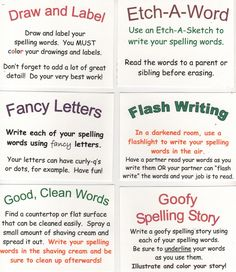 Click to see: MY FAVORITE SPELLING SITE   These ideas can be used in class or as home-study ideas.