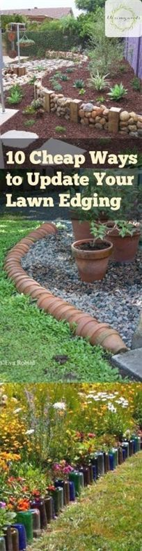 Edging can add a clean, manicured look to your lawn and garden. Unfortunately, the materials can get pretty pricey -- especially when you need a lot of it. To help you improve the look of your garden…MoreMore #LandscapingDIY