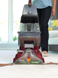 A Hoover vacuum designed to scrub and wash carpets and save you hundreds of dollars by not hiring a professional.
