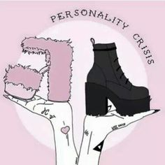 Goth or Girly.or both <- This is why Pastel Goth is a thing.< um, girly doesny mean we all have to like pastel, pabo 😜 Neo Grunge, Soft Grunge, Grunge Style, Pastel Grunge, Pastel Punk, Pastel Goth Quotes, Black Grunge, Grunge Art, Nu Goth