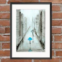 Krystyna Siwek - arrangements Rain Street, White Art, Black And White, Ink Painting, Brush Strokes, Rainy Days, Pattern Art, Monochrome, Modern Art