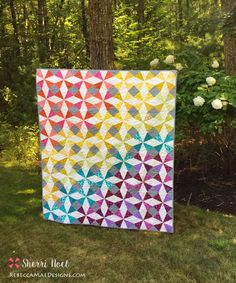 What a stunner! Summer Breeze quilt pattern