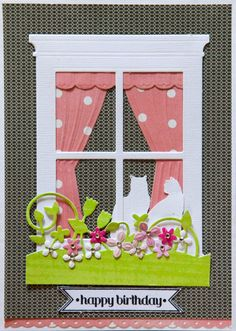 Assorted cards using the Grand Madison Window Die by Poppy Stamps