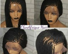 Women Braided Wigs African Braids 2 Braids Men Wigs Without Clips – medlartal Micro Braids Human Hair, Human Braiding Hair, Human Hair Wigs, Box Braid Wig, Braids Wig, Box Braids, Cornrows, 2 Braids Men, Lace Front Wigs