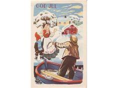 JULEKORT THORSRUD,JULETORSKEN Christmas Postcards, Norway