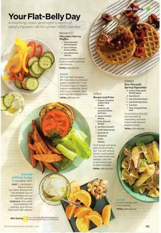 Flat Belly Day meals