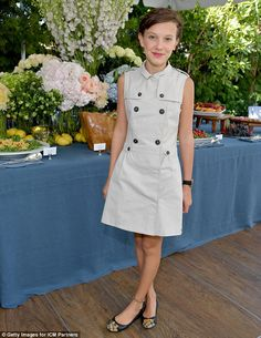 Buttoned-up chic: Earlier, she'd been a guest at the ICM Partners Pre-Emmy…