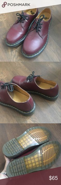3b21415c5fd Dr martens 1461 3 eye shoes in cherry red Worn 3 times only. 100%
