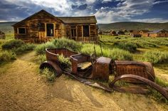 Ghost town of Bodie, California is located east of the Sierra Nevada Mountains Abandoned Cars, Abandoned Buildings, Abandoned Places, Bangkok, Places Around The World, Around The Worlds, Bodie California, California Travel, Terra Santa
