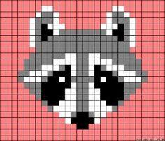 Racoon perler bead pattern by clara