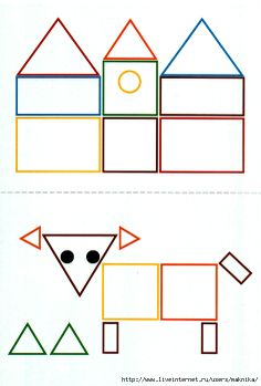 these will be great for the shapes unit in math tubs for pre k Physical Activities For Kids, Preschool Learning Activities, Kindergarten Crafts, Math For Kids, Iq Kids, Art Drawings For Kids, Drawing For Kids, Teaching Geometry, Shape Games